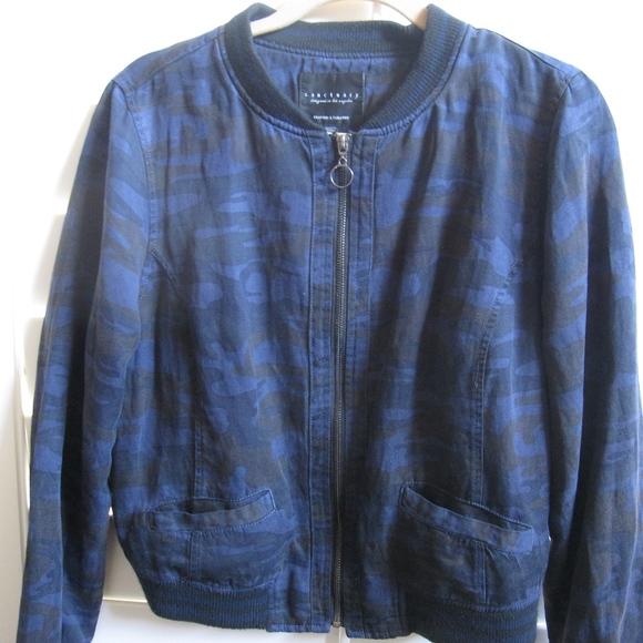 d3bcb605a2beb SANCTUARY Jackets & Coats | Blue Camo Bomber Jacketsmall | Poshmark